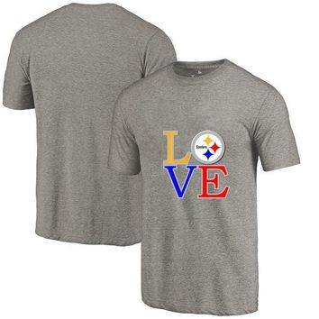 New Designs Summer Pittsburgh Leisure Fashion O-neck T Shirts, Steelers Fans LOVE Logo Picture Printing Style Men's T-Shirt