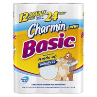 Charmin Basic Bath Tissue 12 Double Rolls 264 sheets per roll