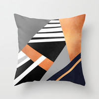 Geometric Combination V2 Throw Pillow by Elisabeth Fredriksson