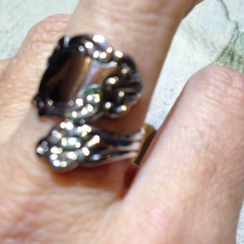 Vintage 1970's SterlingSilver Spoon Ring