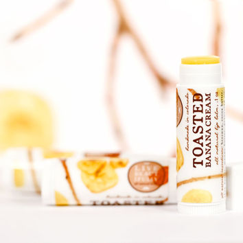 Toasted Banana Cream Lip Balm - All Natural - Sweet Banana and Smoky Vanilla