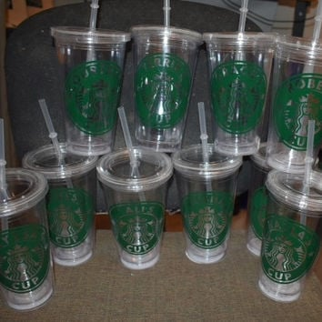 Starbucks Acrylic 16 Ounce Cup with Straw