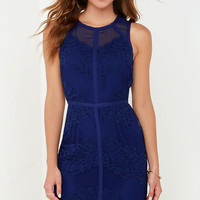 Starring Role Indigo Lace Dress