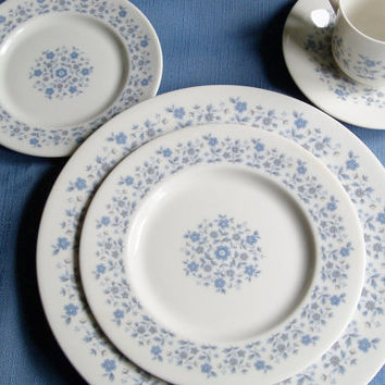 25% Off Vintage China Royal Doulton Galaxy Pattern 5 pc Place Setting Wedding Shower Gift Idea Special Occasion Holiday