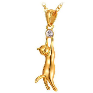 Beautiful Cat Necklace And Pendant