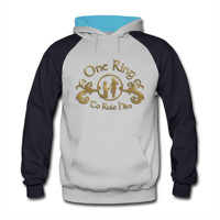 One Ring Men's Two-Tone Hoodie - Men's Two-Tone Hoodie