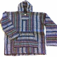 Baja Hoodie~ Original Mexican Deluxe Baja~ Made with 100% Recycled Fibers~ Huge Selection Of Colors & Sizes!! (Small, Multicolor)