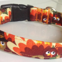 Thanksgiving Turkey Dog and Cat Collar