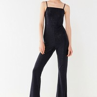 UO Iris Square-Neck Glitter Jumpsuit | Urban Outfitters