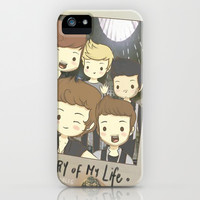 One Direction Story of My Life Cartoon iPhone & iPod Case by xjen94
