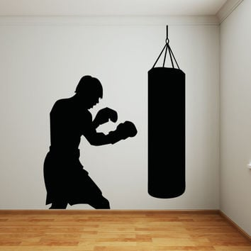Vinyl Wall Decal Sticker Punching Bag #OS_AA686