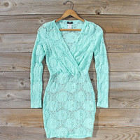 Wild Lace Dress in Mint