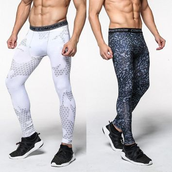 Men camouflage pant/compression trousers/Leggings Running sports/Gym