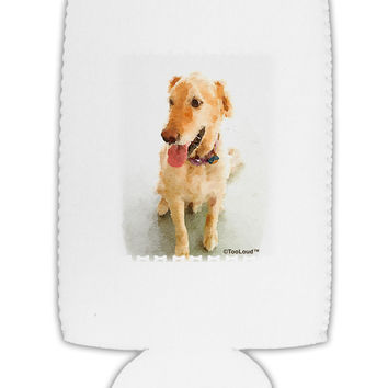 Golden Retriever Watercolor Collapsible Neoprene Tall Can Insulator
