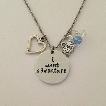 I Want Adventure Necklace Beauty And The Beast Necklace