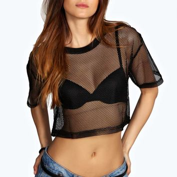 Cara Sport Mesh Crop Top