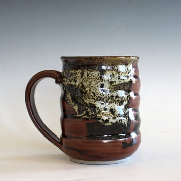 Coffee Mug, 14 oz, unique coffee mug, handmade ceramic cup, handthrown mug, stoneware mug, pottery mug, ceramics and pottery
