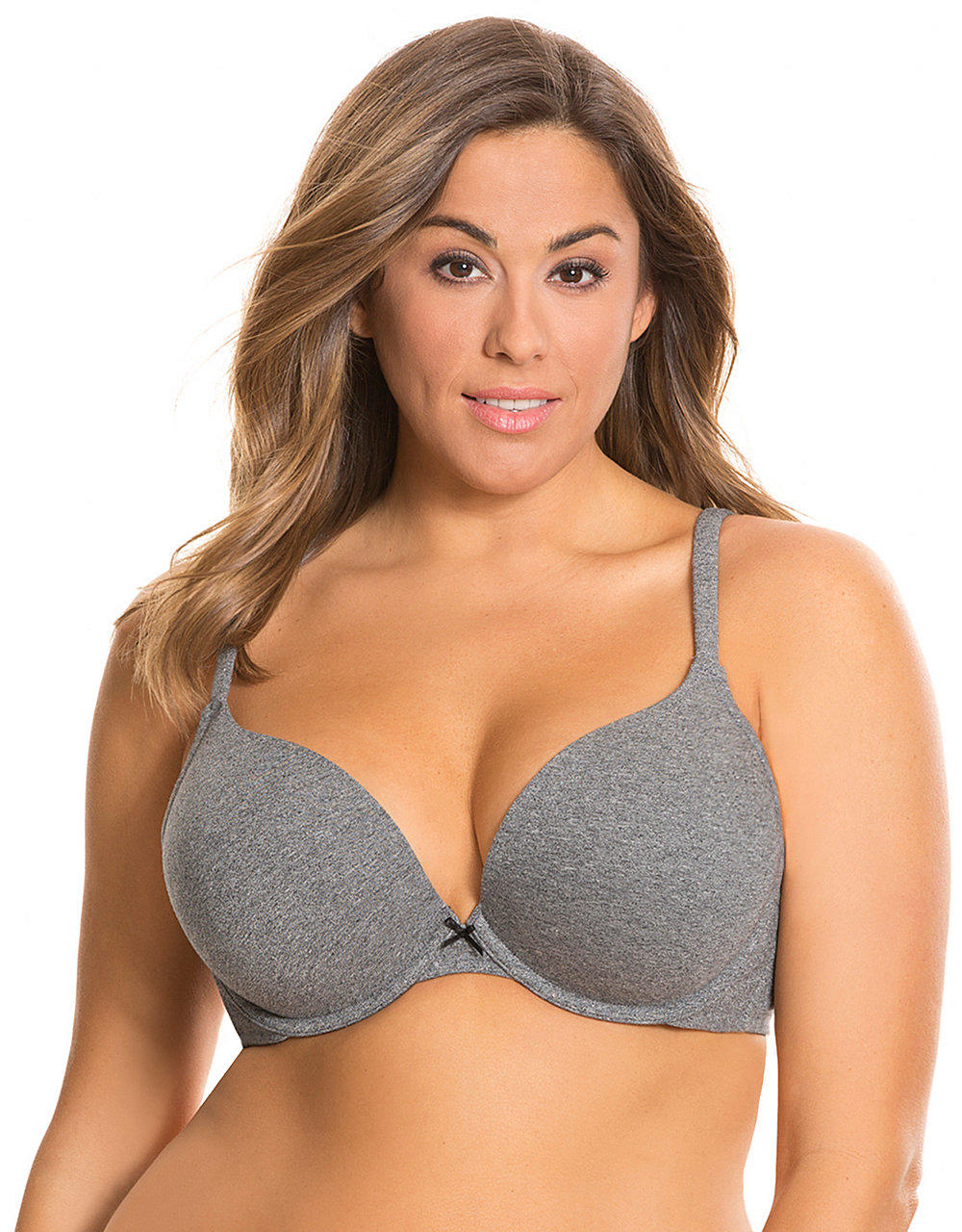 Cotton boost plunge bra | Lane Bryant from Lane Bryant ...
