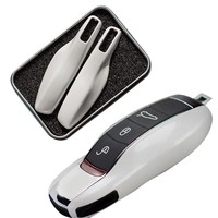 Car Key Case Protective Shell ABS Plastic Styling Bag Box For Porsche Cayenne Macan Cayman Boxster 911
