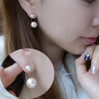 Ear Hugging Pearls Fashion Earrings | LilyFair Jewelry