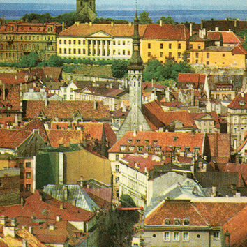 Tallin. General view to Lower Town (Photo by G. Vaidla) - Vintage Postcard - Printed in Estonia, «Eesti Raamat», Tallinn, 1972