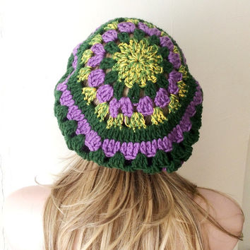 Handmade Crochet Colorful Color Hat