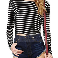 Black And White Stripe Long Sleeve T-shirt