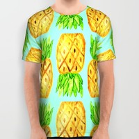 Darling Pineapples All Over Print Shirt by Allyson Johnson
