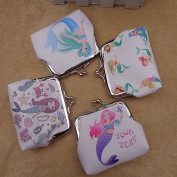 1pc Mermaid Unicorn Coin Purse Birthday Gifts for Kids Unicorn Party Bachelorette Party Happy Birthday Baby Shower Party Favors