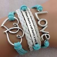 Teal Heart Set