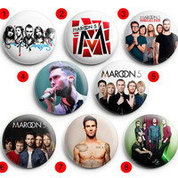 Maroon 5 Pinback Buttons Badge ,Pin Badge Buttons 1.5 inch / 38 mm round buttons