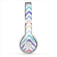The Subtle Vintage Multi-Colored Chevron Pattern Skin for the Beats by Dre Solo 2 Headphones