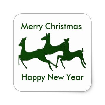 Myrtle Bucks Happy Holidays Square Sticker