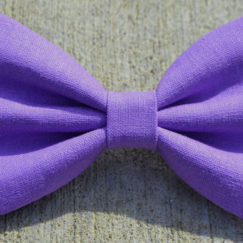 Lavender Linen-Look Hair Bow