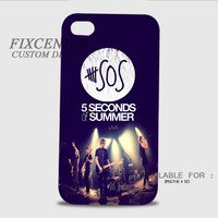 5 Seconds Of Summer 3D Image Cases for iPhone 4/4S, iPhone 5/5S, iPhone 5C, iPhone 6, iPhone 6 Plus, iPod 4, iPod 5, Samsung Galaxy (S3, S4, S5, S6) by FixCenters