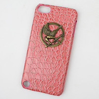 hunger games mockingjay And Pink Hard Case Cover  for Apple Ipod Touch 5, iPod Touch 5th,iTouch 5,iPod Touch 5