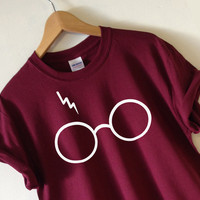Harry Potter Tshirt Lightning Glasses T-shirt Unisex adults size size