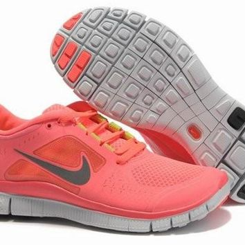 Nike Free Run+ 3 Women's Running Shoes Hot Punch Neon/White