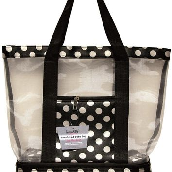 TempaMATE? Insulated Tote Bag - Black-White - CASE OF 10