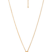 FOREVER 21 Square Cutout Pendant Necklace Gold One