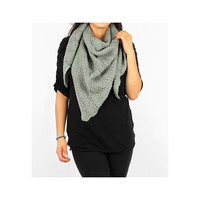 Mint Green Knitted Shawl Scarf