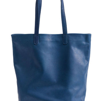 Basic Leather Tote: Blue
