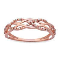 Violet and Sienna 14K Rose Gold Braided Diamond Ring