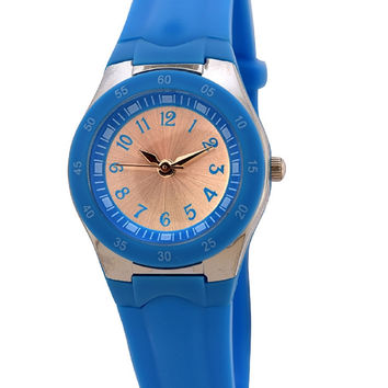 FMD by Fossil Women Blue Silicone Watch