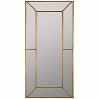 Payne Antique Gold Floor Mirror - #EU1H083 - Euro Style Lighting