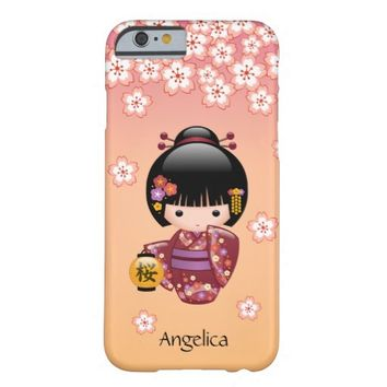 Sakura Kokeshi Doll Personalized