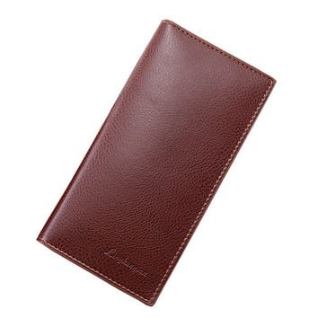 Man Wallet Leather Concise Money Bag Huge Capacity Purse Card Holder