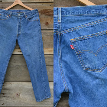 Vintage Levi Distressed Boot Cut Jeans 33x29