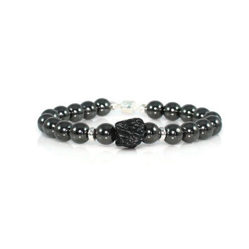 Men's Tektite and Hematite Yoga Bracelet