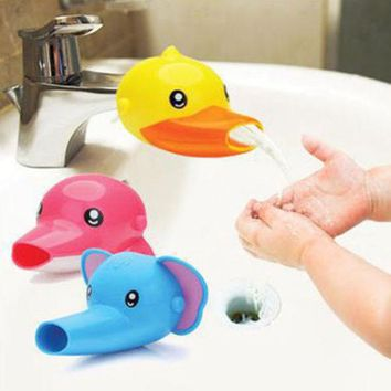DCCKL72 FHEAL 1 pc Lovely Cartoon Faucet Extender For Kid Children Kid Hand Washing in Bathroom Sink Accessories